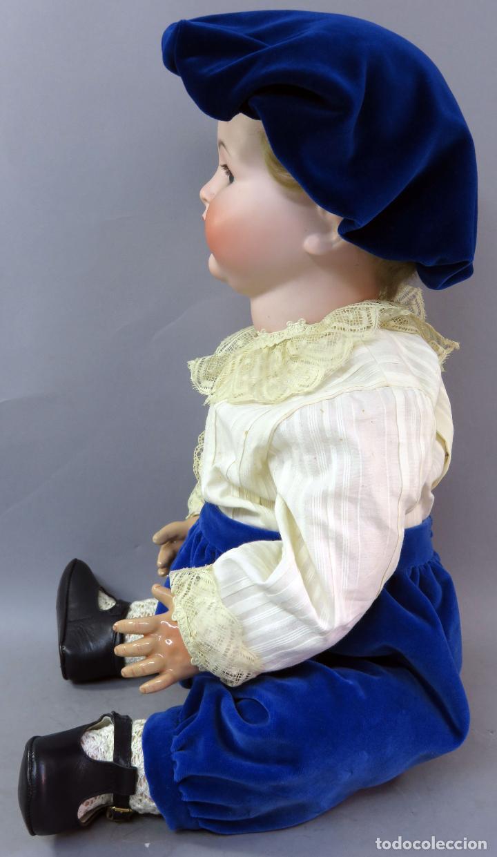 Muñecas Porcelana: Muñeca Kammer & Reinhardt KR 22 cabeza porcelana marca nuca cuerpo composición 60 cm alto - Foto 5 - 223482216