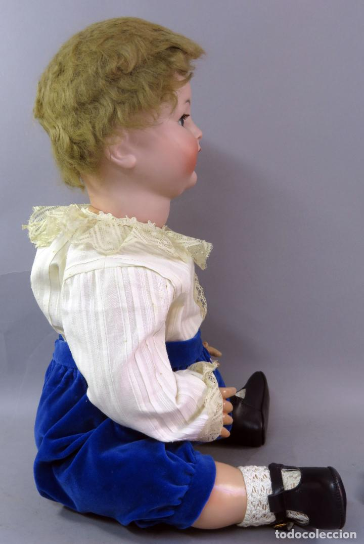 Muñecas Porcelana: Muñeca Kammer & Reinhardt KR 22 cabeza porcelana marca nuca cuerpo composición 60 cm alto - Foto 12 - 223482216