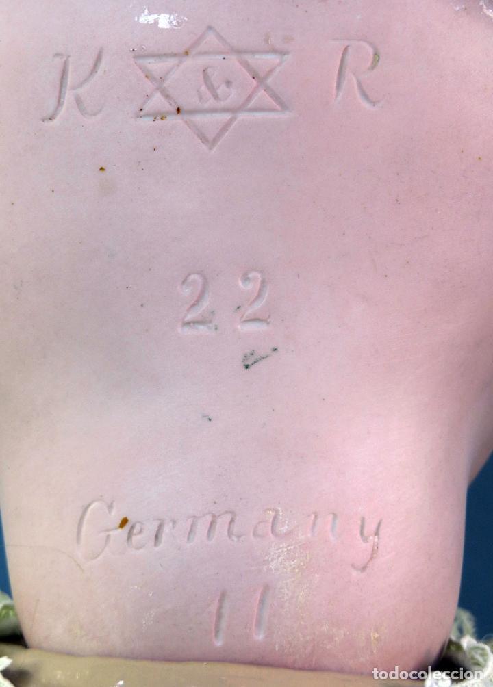 Muñecas Porcelana: Muñeca Kammer & Reinhardt KR 22 cabeza porcelana marca nuca cuerpo composición 60 cm alto - Foto 15 - 223482216