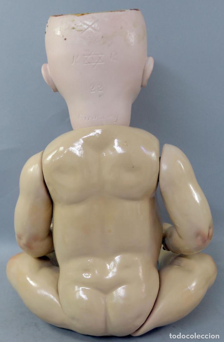 Muñecas Porcelana: Muñeca Kammer & Reinhardt KR 22 cabeza porcelana marca nuca cuerpo composición 60 cm alto - Foto 19 - 223482216