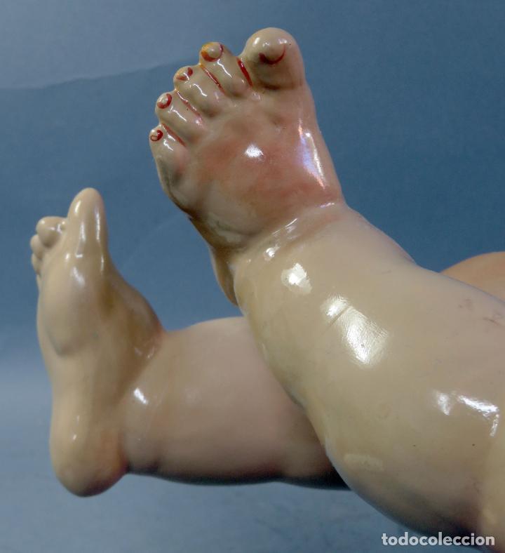 Muñecas Porcelana: Muñeca Kammer & Reinhardt KR 22 cabeza porcelana marca nuca cuerpo composición 60 cm alto - Foto 24 - 223482216