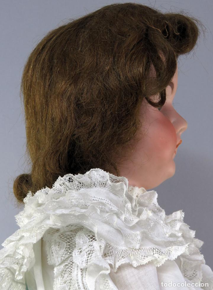 Muñecas Porcelana: Muñeca cabeza porcelana cuerpo madera articulado marca nuca 444 16 ojo durmiente 80 cm alto - Foto 14 - 223485392