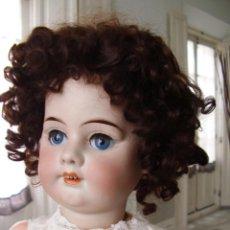 Muñecas Porcelana: PRECIOSA MUÑECA ANTIGUA ALEMANA, CABEZA DE BISCUIT SIN DAÑOS, 58CM. Lote 223749451