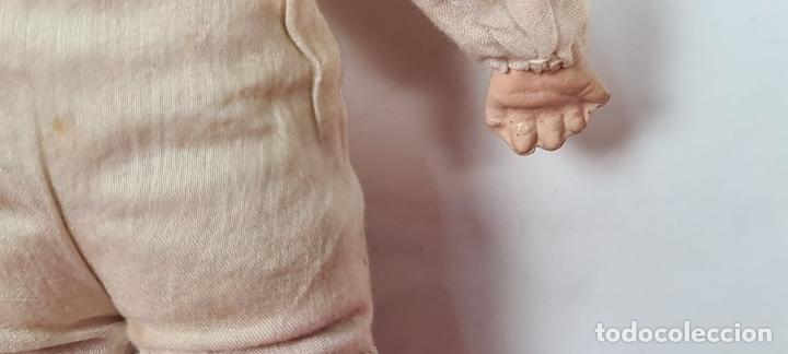 Muñecas Porcelana: MUÑECO BEBÉ. CABEZA Y MANOS DE PORCELANA. CUERPO DE PAJA. ALEMANIA. CIRCA 1920. - Foto 7 - 226950040