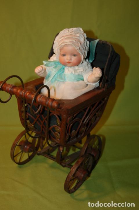 Muñecas Porcelana: baby dream armand marseille y cochecito - Foto 3 - 228309430