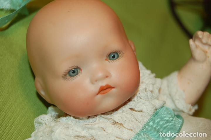 Muñecas Porcelana: baby dream armand marseille y cochecito - Foto 4 - 228309430