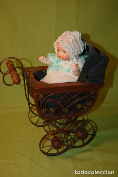 Muñecas Porcelana: baby dream armand marseille y cochecito - Foto 7 - 228309430