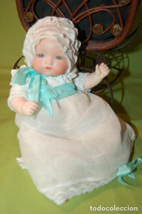 BABY DREAM ARMAND MARSEILLE Y COCHECITO (Juguetes - Muñeca Extranjera Antigua - Porcelana Alemana)