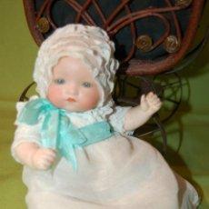 Muñecas Porcelana: BABY DREAM ARMAND MARSEILLE Y COCHECITO. Lote 228309430