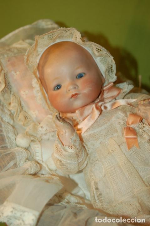 Muñecas Porcelana: baby dream armand marseille boca cerrada y cochecito - Foto 3 - 228341545
