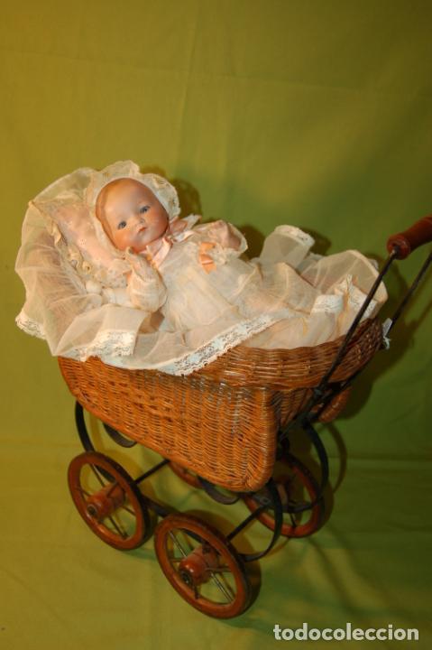 Muñecas Porcelana: baby dream armand marseille boca cerrada y cochecito - Foto 4 - 228341545