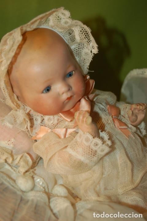 Muñecas Porcelana: baby dream armand marseille boca cerrada y cochecito - Foto 5 - 228341545
