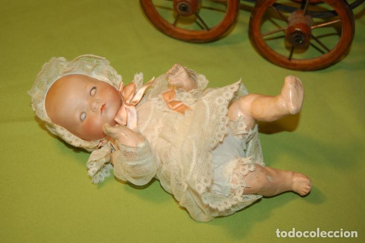 Muñecas Porcelana: baby dream armand marseille boca cerrada y cochecito - Foto 6 - 228341545