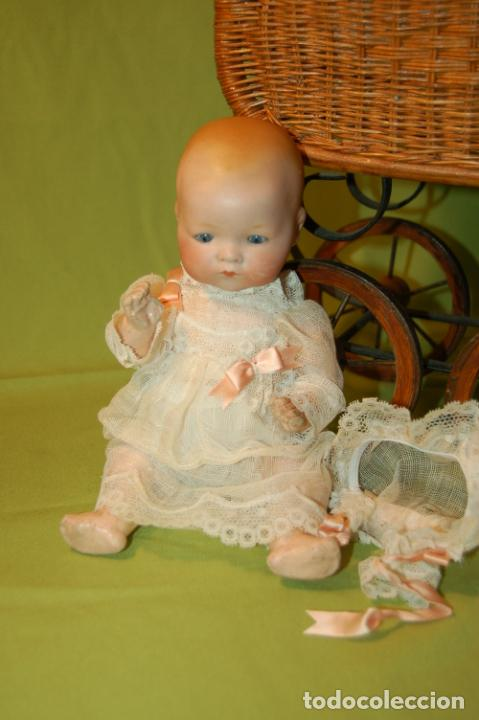 Muñecas Porcelana: baby dream armand marseille boca cerrada y cochecito - Foto 7 - 228341545
