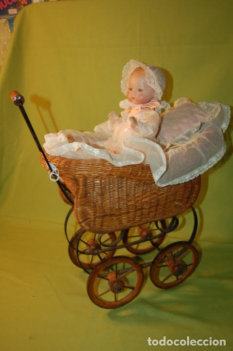 Muñecas Porcelana: baby dream armand marseille boca cerrada y cochecito - Foto 11 - 228341545
