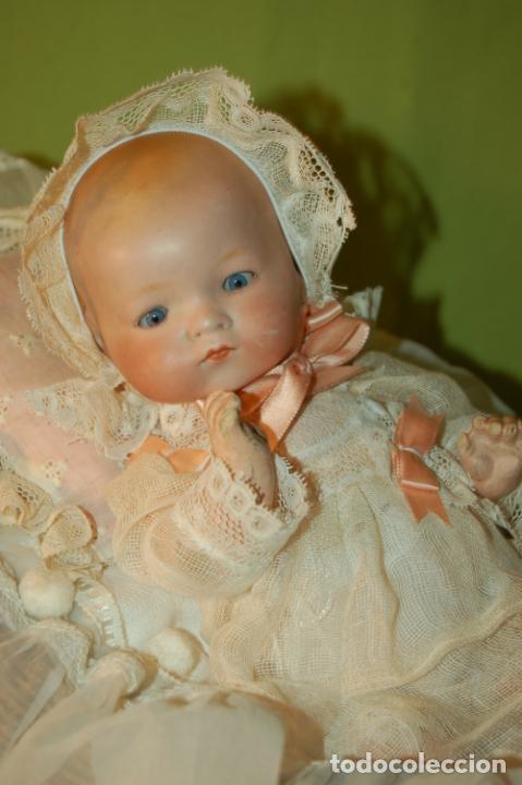 Muñecas Porcelana: baby dream armand marseille boca cerrada y cochecito - Foto 12 - 228341545