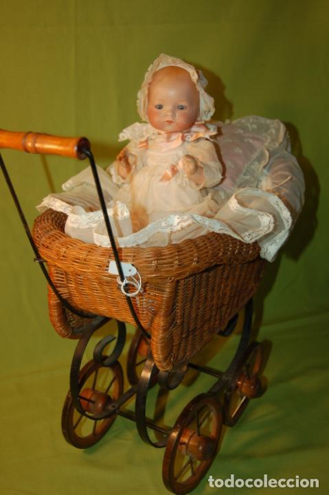 Muñecas Porcelana: baby dream armand marseille boca cerrada y cochecito - Foto 14 - 228341545