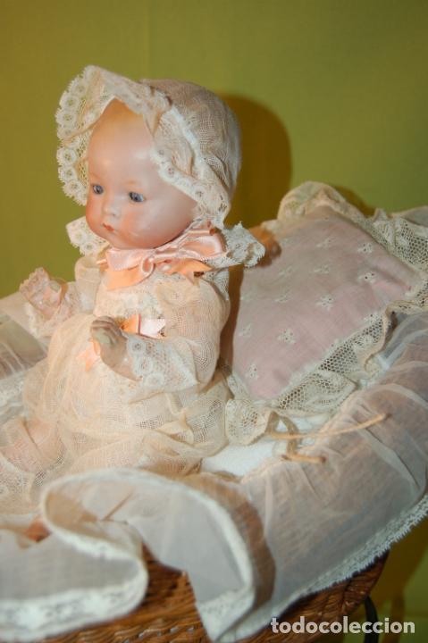 Muñecas Porcelana: baby dream armand marseille boca cerrada y cochecito - Foto 16 - 228341545