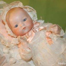 Muñecas Porcelana: BABY DREAM ARMAND MARSEILLE BOCA CERRADA Y COCHECITO. Lote 228341545