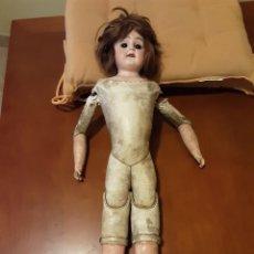 Muñecas Porcelana: MUÑECA S XIX PORCELANA Y CABRITILLA. Lote 232372770
