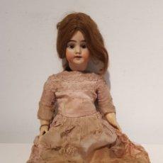 Bonecas Porcelana: ANTIGUA MUÑECA CARA DE PORCELANA Y CUERPO CARTÓN PIEDRA TODO ORIGINAL GRAN ESTADO 44 CM. Lote 233287450