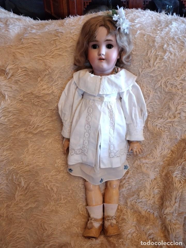 Muñecas Porcelana: Antigua muñeca heinrich handwerck simon & halbig germany 5 cabeza biscuit,siglo xix - Foto 2 - 233973565