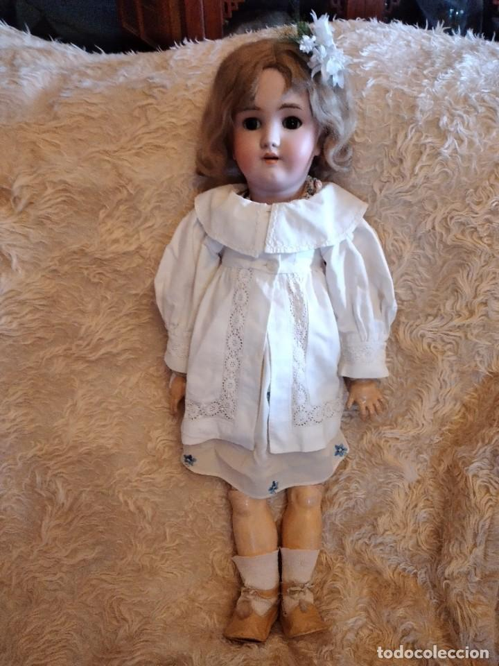Muñecas Porcelana: Antigua muñeca heinrich handwerck simon & halbig germany 5 cabeza biscuit,siglo xix - Foto 3 - 233973565
