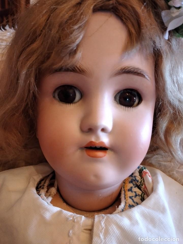 Muñecas Porcelana: Antigua muñeca heinrich handwerck simon & halbig germany 5 cabeza biscuit,siglo xix - Foto 6 - 233973565