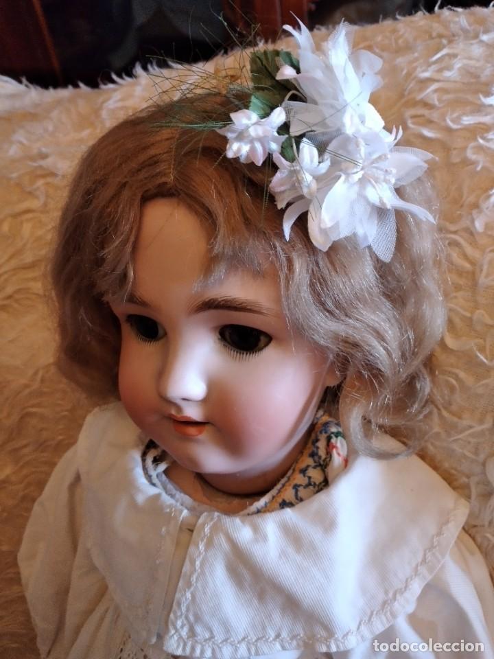 Muñecas Porcelana: Antigua muñeca heinrich handwerck simon & halbig germany 5 cabeza biscuit,siglo xix - Foto 7 - 233973565