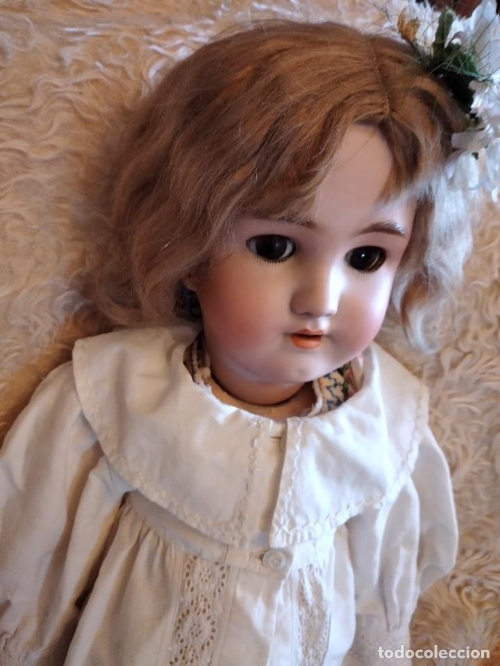 Muñecas Porcelana: Antigua muñeca heinrich handwerck simon & halbig germany 5 cabeza biscuit,siglo xix - Foto 8 - 233973565