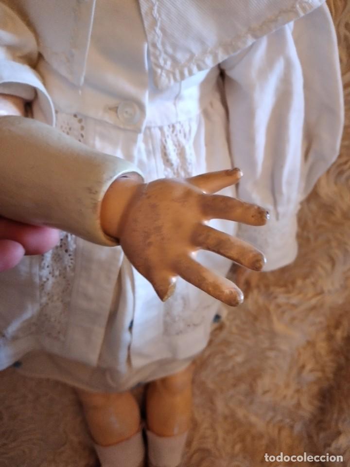 Muñecas Porcelana: Antigua muñeca heinrich handwerck simon & halbig germany 5 cabeza biscuit,siglo xix - Foto 11 - 233973565