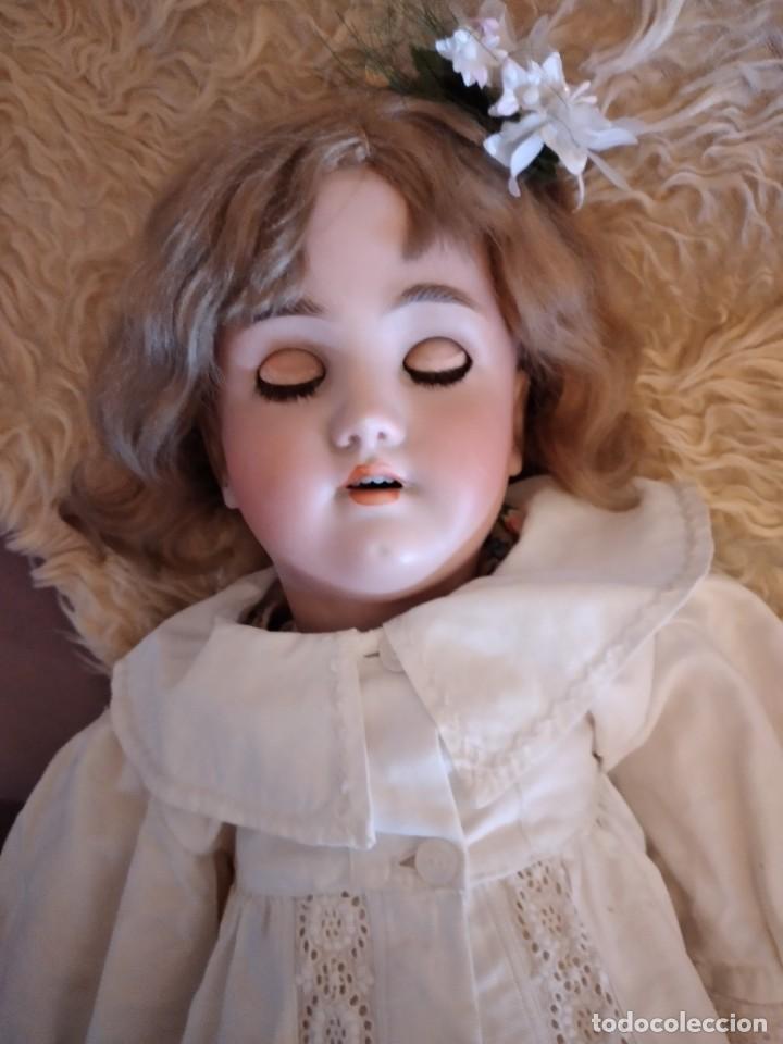 Muñecas Porcelana: Antigua muñeca heinrich handwerck simon & halbig germany 5 cabeza biscuit,siglo xix - Foto 12 - 233973565
