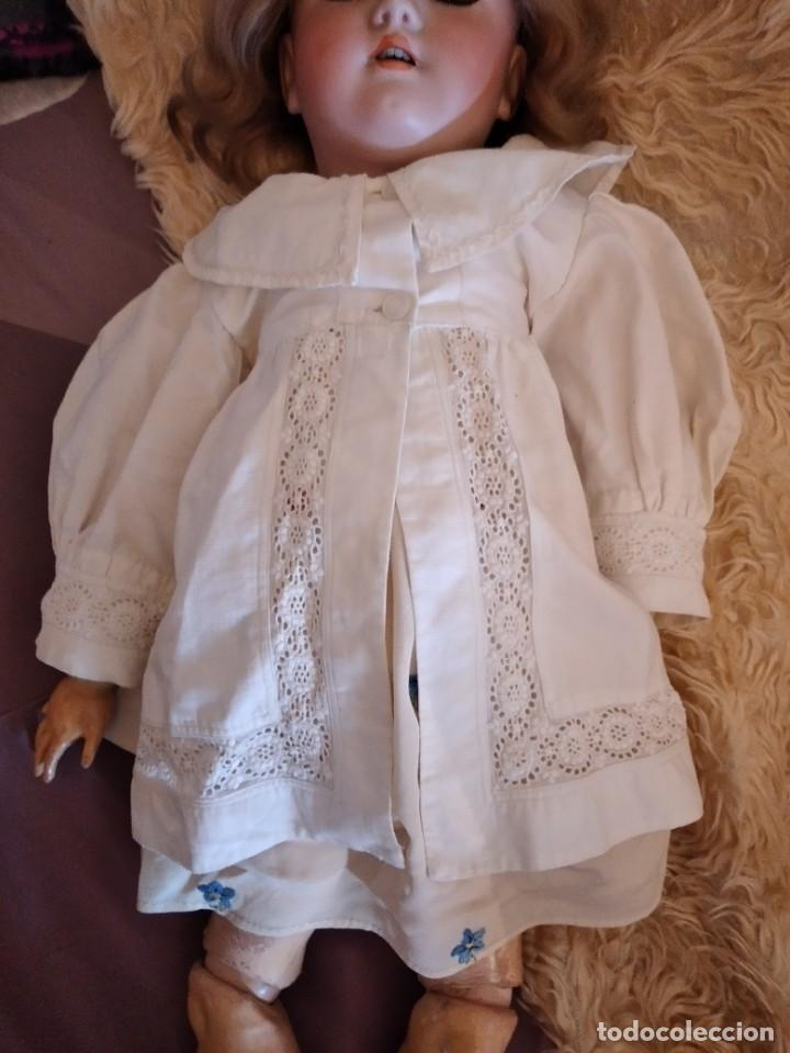 Muñecas Porcelana: Antigua muñeca heinrich handwerck simon & halbig germany 5 cabeza biscuit,siglo xix - Foto 13 - 233973565