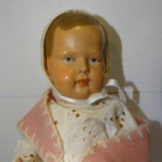 Muñecas Porcelana: MUÑECA ANTIGUA GERMANY TORTUGA 25/30 CELULOIDE VESTIDO. BUEN ESTADO. Lote 235268185