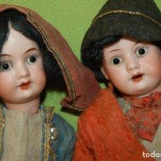 Muñecas Porcelana: PAREJA DE ARMAND MARSEILLE 23CM. Lote 235568880