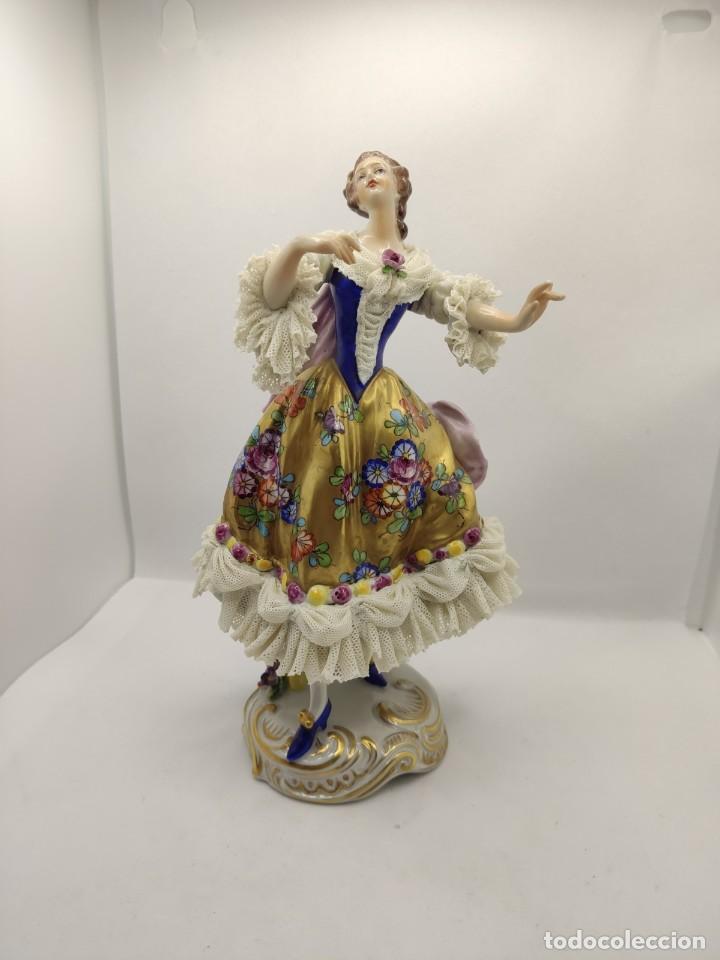 Muñecas Porcelana: Porcelana alemana dresden volkstedt factory porcelain ( meissen capodimonte ) - Foto 2 - 237337640