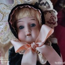 Muñecas Porcelana: ANTIGUA MUÑECA ALEMANA CON CUERPO PIEL DE CABRETILLA. Lote 240111960