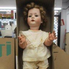 Muñecas Porcelana: MUÑECA DE PORCELANA ORIGINAL DE EPOCA - MARCA B S W - ROPA Y CAJA - IMPECABLE / 48 CM. Lote 241671655