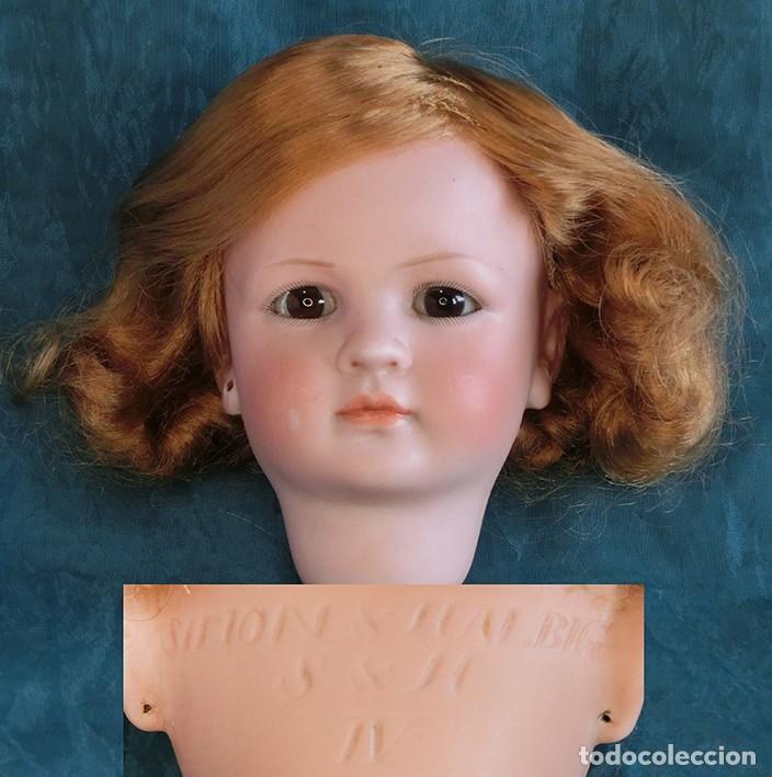 Muñecas Porcelana: RAREZA - SIMON & HALBIG - ANTIGUA Y EXCEPCIONAL CABEZA DE MUÑECA ALEMANA - Nº IV - CIRCA 1910-1912 - Foto 7 - 242140590