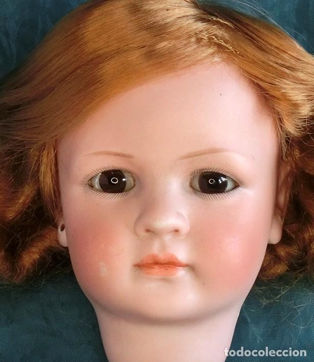 Muñecas Porcelana: RAREZA - SIMON & HALBIG - ANTIGUA Y EXCEPCIONAL CABEZA DE MUÑECA ALEMANA - Nº IV - CIRCA 1910-1912 - Foto 9 - 242140590
