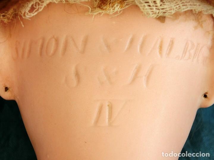 Muñecas Porcelana: RAREZA - SIMON & HALBIG - ANTIGUA Y EXCEPCIONAL CABEZA DE MUÑECA ALEMANA - Nº IV - CIRCA 1910-1912 - Foto 10 - 242140590
