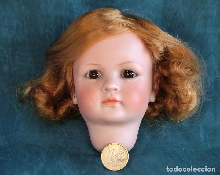 Muñecas Porcelana: RAREZA - SIMON & HALBIG - ANTIGUA Y EXCEPCIONAL CABEZA DE MUÑECA ALEMANA - Nº IV - CIRCA 1910-1912 - Foto 12 - 242140590