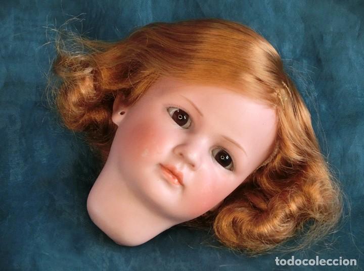 Muñecas Porcelana: RAREZA - SIMON & HALBIG - ANTIGUA Y EXCEPCIONAL CABEZA DE MUÑECA ALEMANA - Nº IV - CIRCA 1910-1912 - Foto 17 - 242140590