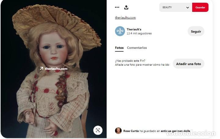 Muñecas Porcelana: RAREZA - SIMON & HALBIG - ANTIGUA Y EXCEPCIONAL CABEZA DE MUÑECA ALEMANA - Nº IV - CIRCA 1910-1912 - Foto 29 - 242140590