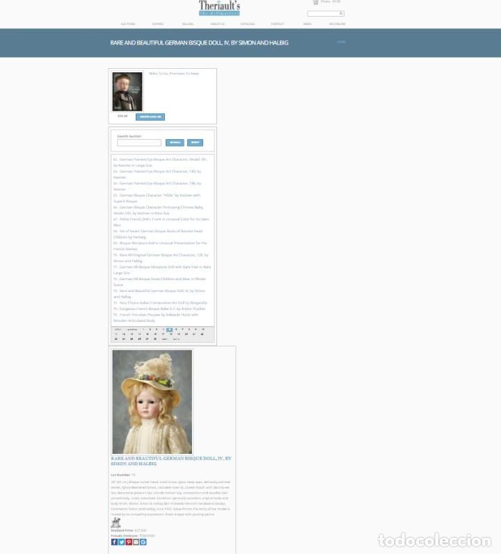 Muñecas Porcelana: RAREZA - SIMON & HALBIG - ANTIGUA Y EXCEPCIONAL CABEZA DE MUÑECA ALEMANA - Nº IV - CIRCA 1910-1912 - Foto 31 - 242140590