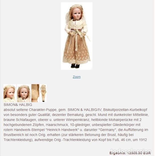 Muñecas Porcelana: RAREZA - SIMON & HALBIG - ANTIGUA Y EXCEPCIONAL CABEZA DE MUÑECA ALEMANA - Nº IV - CIRCA 1910-1912 - Foto 33 - 242140590