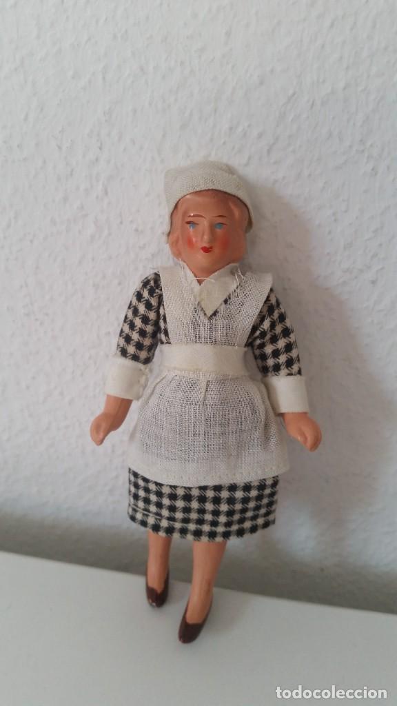 Muñecas Porcelana: ANTIGUA MONEQUINA DE COLECION PORCELANA GERMANY ROPAS ORIGINALES ANOS 20,30 - Foto 2 - 244524010