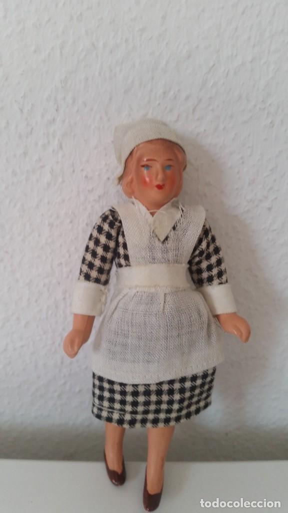 Muñecas Porcelana: ANTIGUA MONEQUINA DE COLECION PORCELANA GERMANY ROPAS ORIGINALES ANOS 20,30 - Foto 7 - 244524010