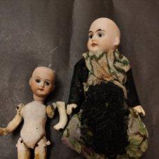 Muñecas Porcelana: MUÑECAS ANTIGUAS TIPO MIGNONETTE / CASA DE MUÑECAS. Lote 231064990
