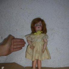 Muñecas Porcelana: ANTIGUA MUÑECA DE PORCELANA A IDENTIFICAR, MARCA NUCA DEP 3, ORIGINAL.. Lote 264180536